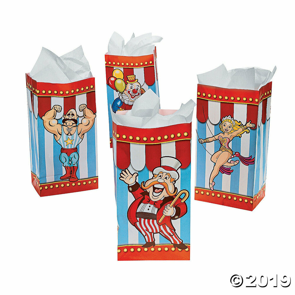 12 CARNIVAL Big Top Tent CIRCUS Birthday Party Favor Treat
