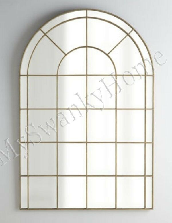 Neiman marcus 66 palladian arch wall mirror gold horchow for Gold window mirror