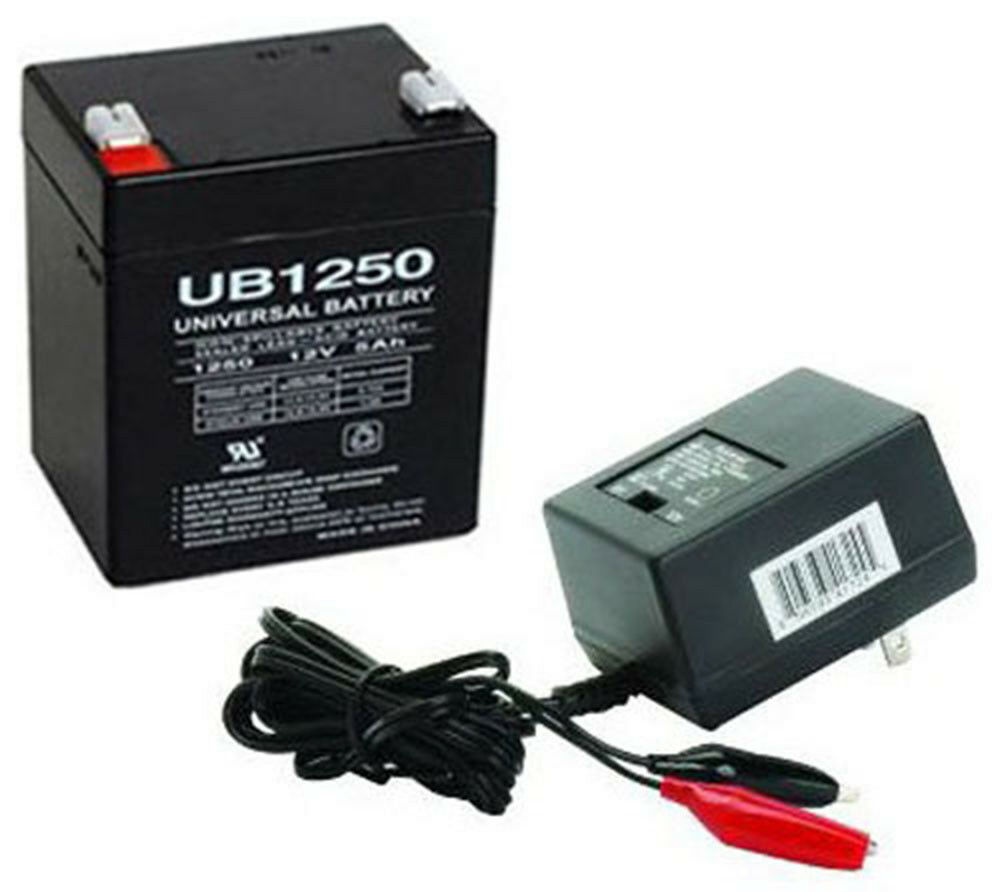 upg upg ub1250 12v 5ah sla battery combo with charger ebay. Black Bedroom Furniture Sets. Home Design Ideas