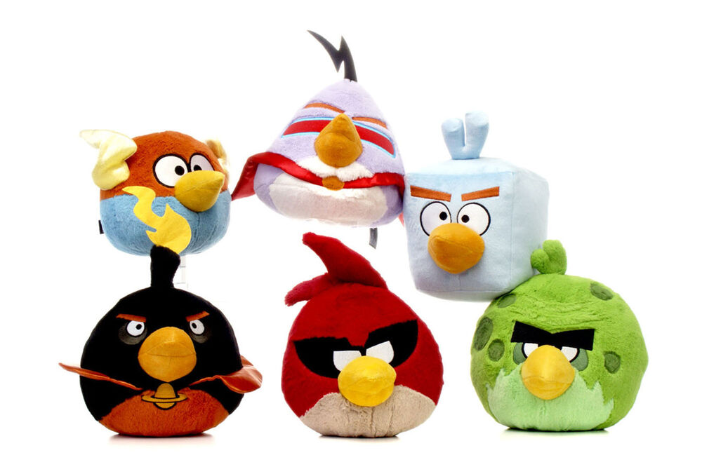 All Angry Birds Plush Toys : New official quot plush space angry birds soft toys from