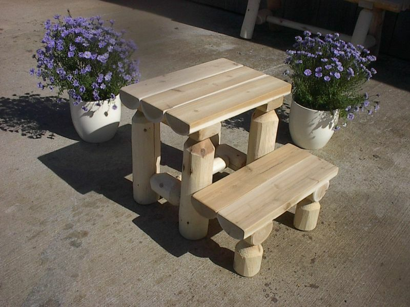 Rustic White Cedar Log Step Stool Amish Made In The Usa