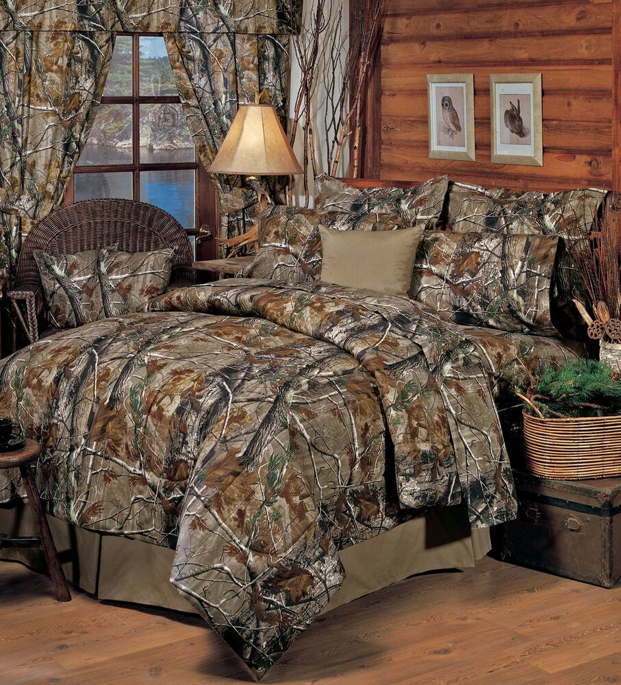 realtree ap all purpose camo bedding comforter set sheets 5 sizes bed in bag ebay On bedroom sheets