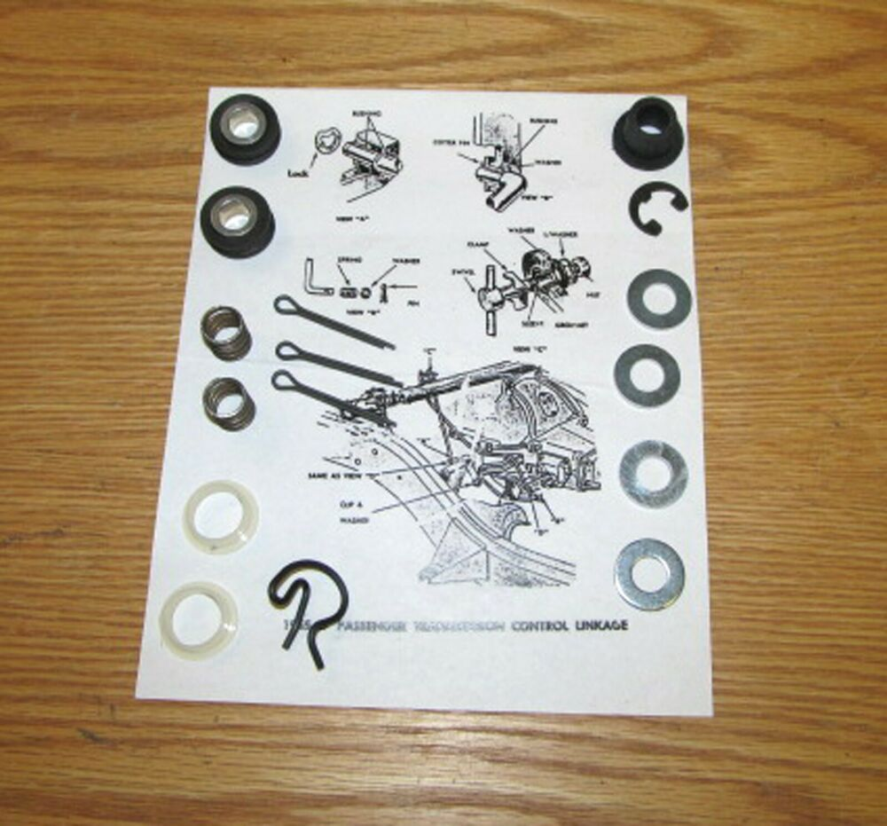 1955 1956 1957 Chevy Shift Linkage Bushing And Hardware