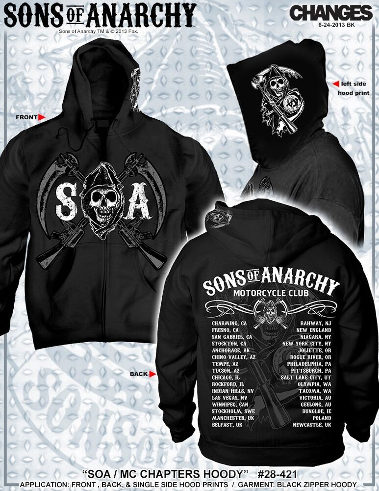 new sons of anarchy soa chapters cities samcro logo reaper. Black Bedroom Furniture Sets. Home Design Ideas