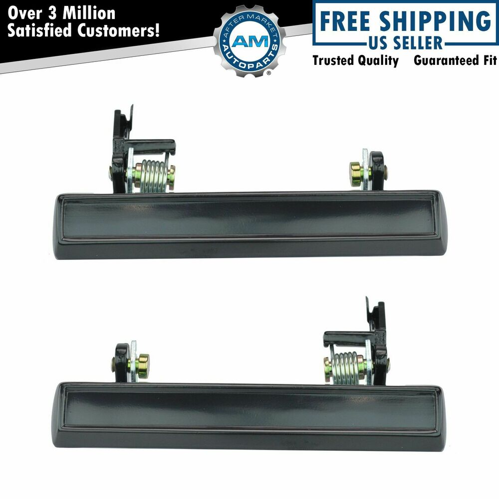 Outer Outside Exterior Door Handle Pair Set Black For Chevy Buick Pontiac Ebay
