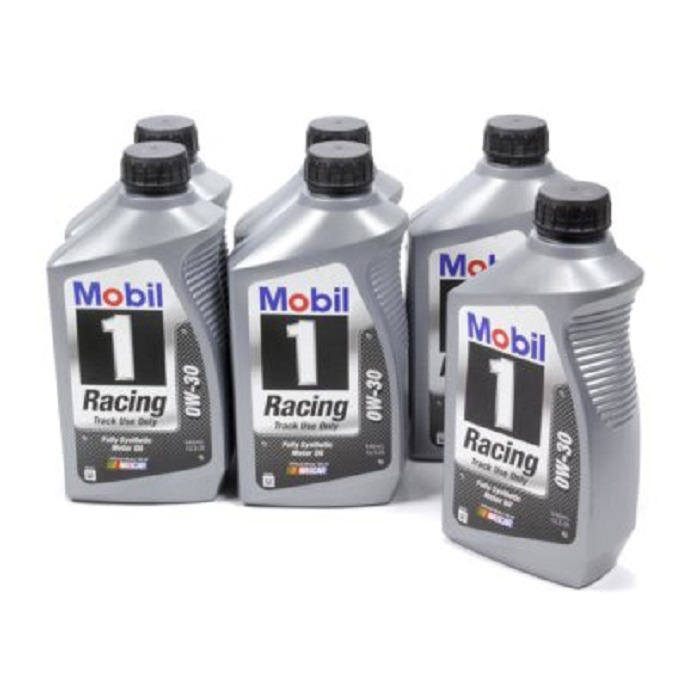 mobil 1 0w 30 racing oil case 6 zinc phosphorous additive