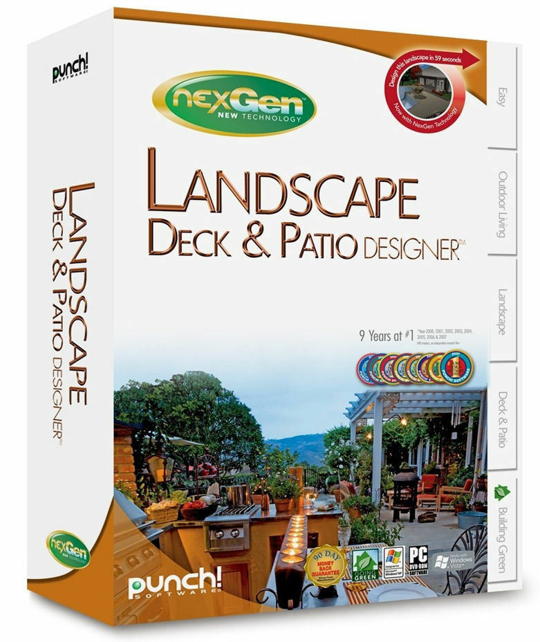 Punch! LANDSCAPE DECK & PATIO DESIGNER W/ NexGen Tech