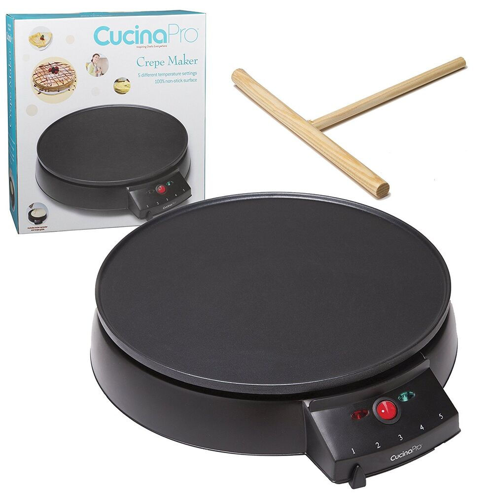 New 12 In Electric Crepe Pancake Maker Nonstick Griddle ...