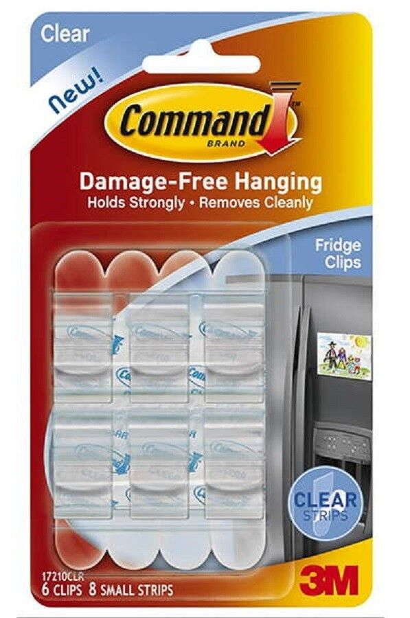 new 3m command picture hanging clips clear 6 clips 8 small strips