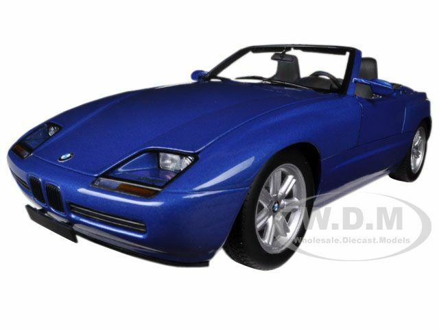 1988 bmw z1 metallic blue 1 18 diecast car model by minichamps 180020102 ebay. Black Bedroom Furniture Sets. Home Design Ideas