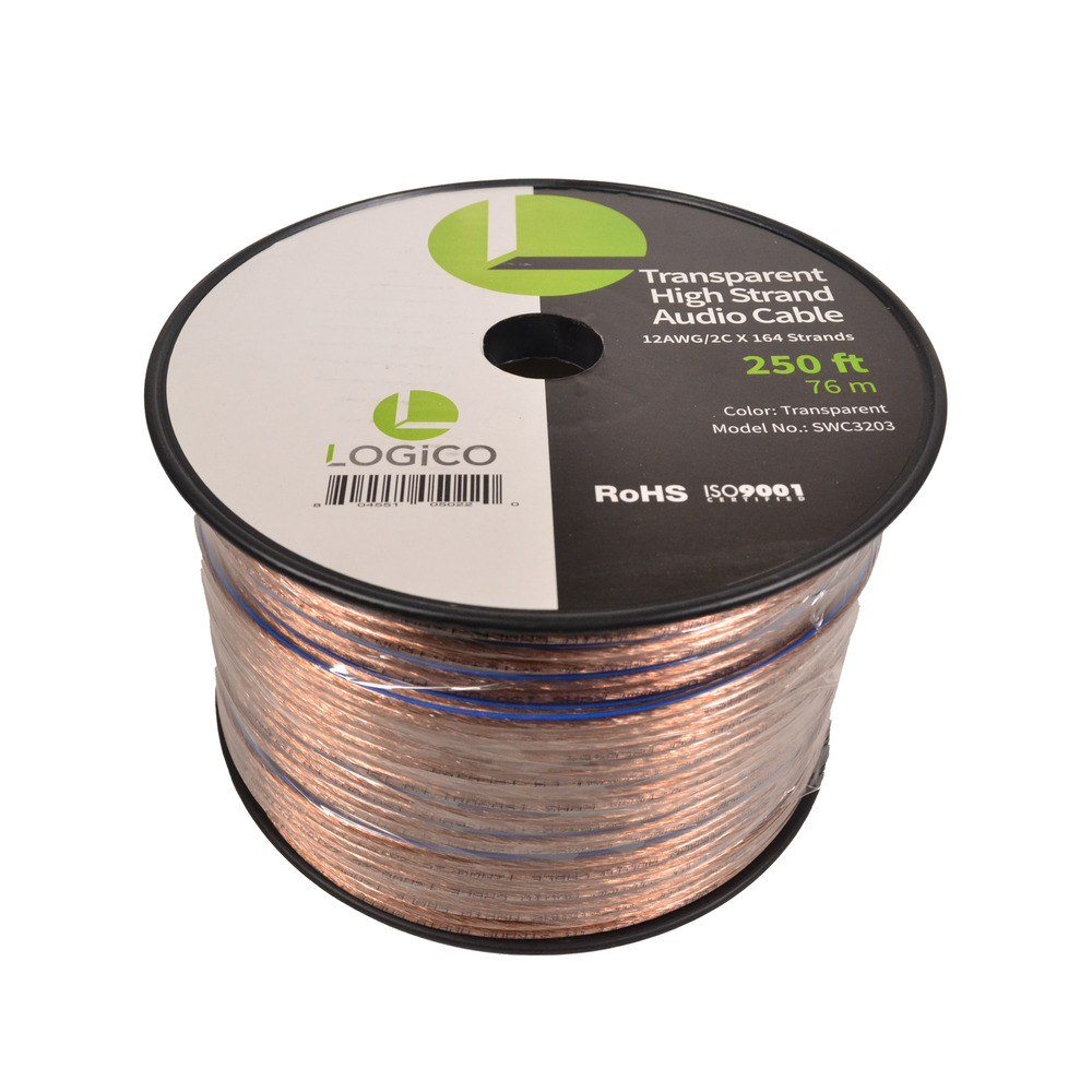 car home audio speaker wire 12 gauge 250 ft audio speaker cable 12awg 250 39 804551050220 ebay. Black Bedroom Furniture Sets. Home Design Ideas