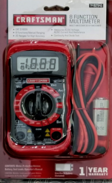 Craftsman Digital Multimeter : Craftsman multimeter digital with functions and