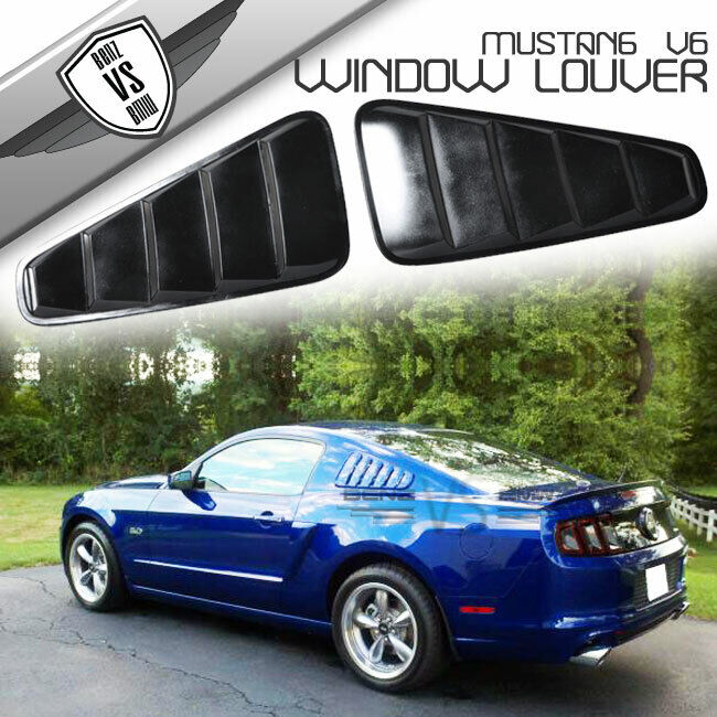 05 09 ford mustang quarter side window louvers board ebay for 05 mustang rear window louvers