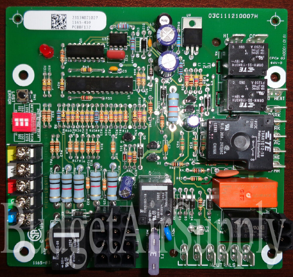 Goodman Amana New Furnace Control Board Pcbbf132s Replaces Central Air Conditioner Circuit Photos Pcbbf122pcbbf109 691201627006 Ebay