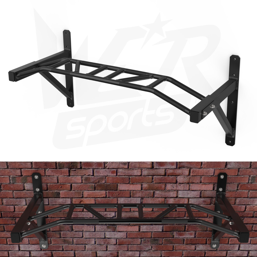 Wall Mounted Multi Grip Chin Up Bar Crossfit Strength