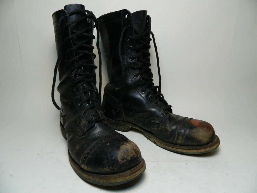 1970 S Army Boots Pair A Trooper Georgia Boot Size 7 1 2 B