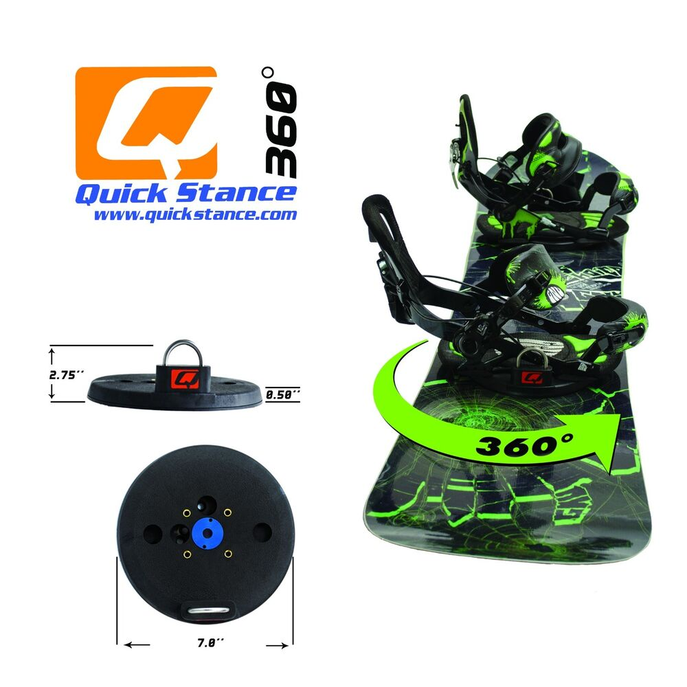 Quick Stance 360 Tool-less Snowboard Binding Rotating