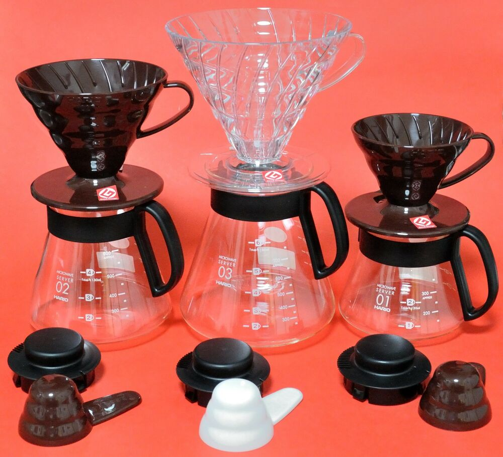 hario dripper porte filtre caf pot verre v60 01 02 03 japon japonais ebay. Black Bedroom Furniture Sets. Home Design Ideas