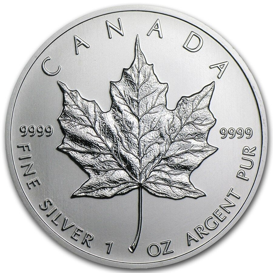 2013 1 Oz Canadian Silver Maple Leaf Coin One Troy Oz