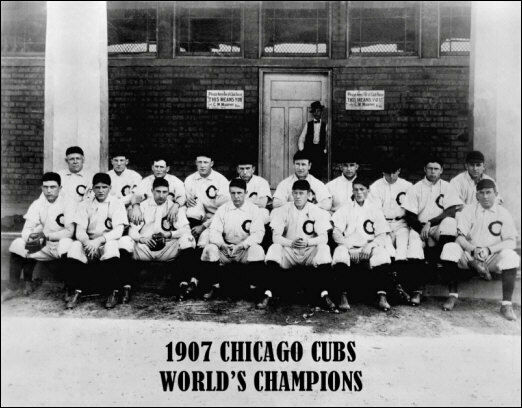 1907 Chicago Cubs Photo Large 11x14 Tinker Evers Chance