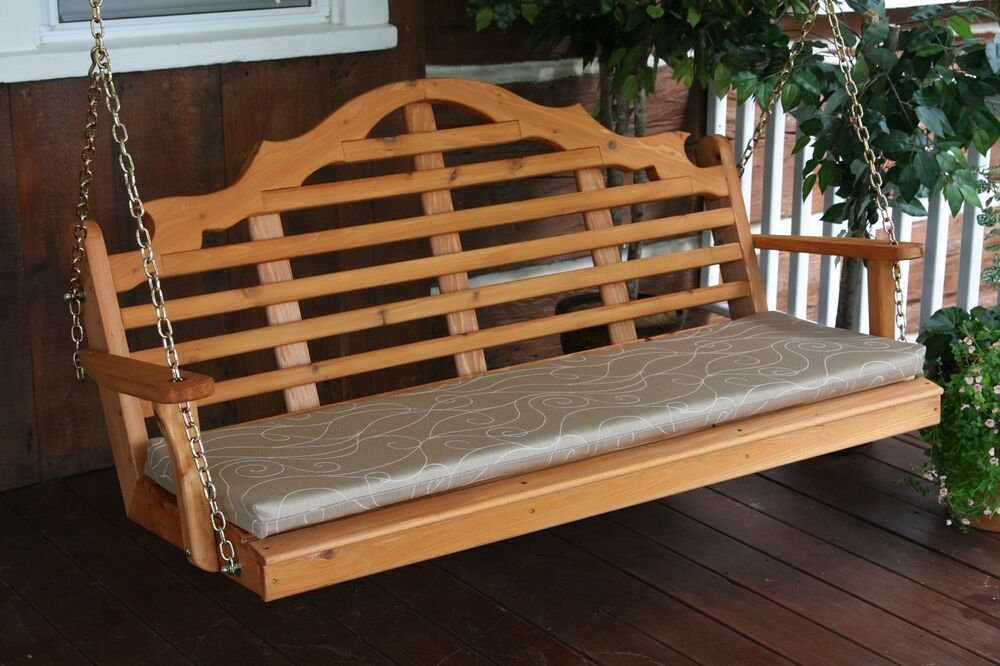 Outdoor 5 Foot Marlboro Porch Swing Unfinished Pine
