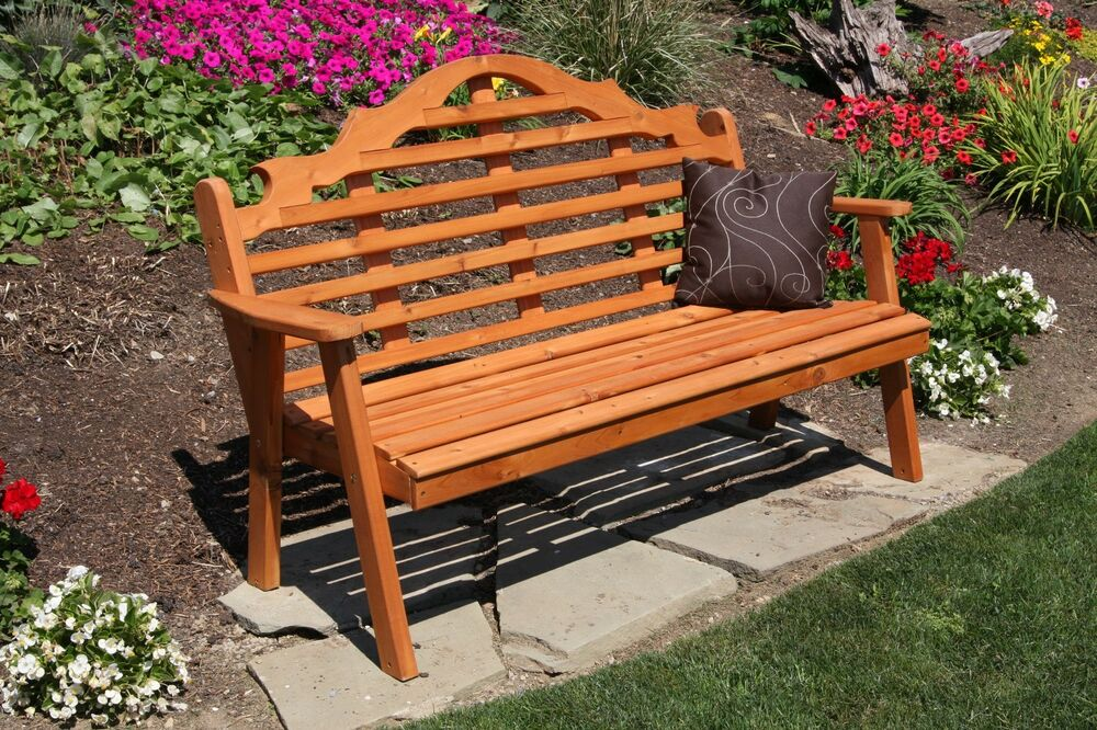 Classic Outdoor 6 Foot Marlboro Garden Bench Unfinished