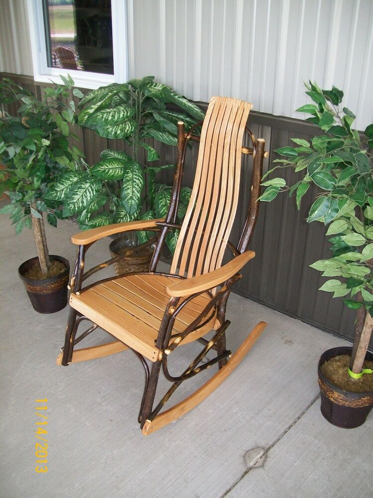 Custom Made Amish Furniture together with Cedar Adirondack Swing besides 131616922793 besides Rustic Rocking Chair Plans besides Hammmade Modern Hanging Swing Bed. on amish porch rocking chairs