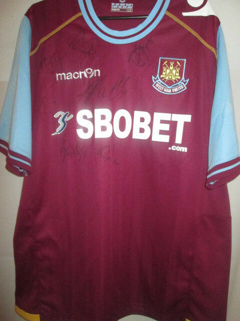 ee732de6220 Details about West Ham 2011-2012 Home Squad Signed Football Shirt with COA   19742