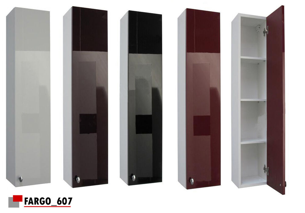 wall mounted storage unit bathroom cabinet cupboard high gloss only