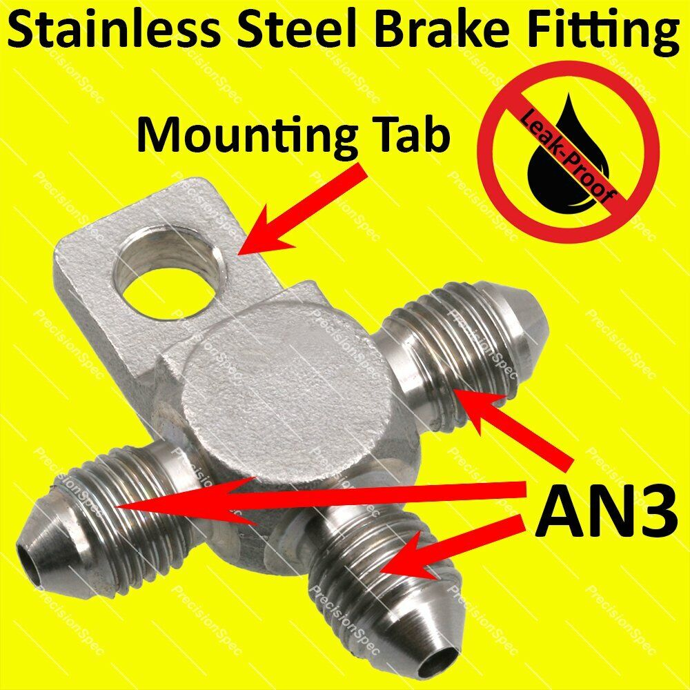 An stainless steel male flare tee fitting adapter with