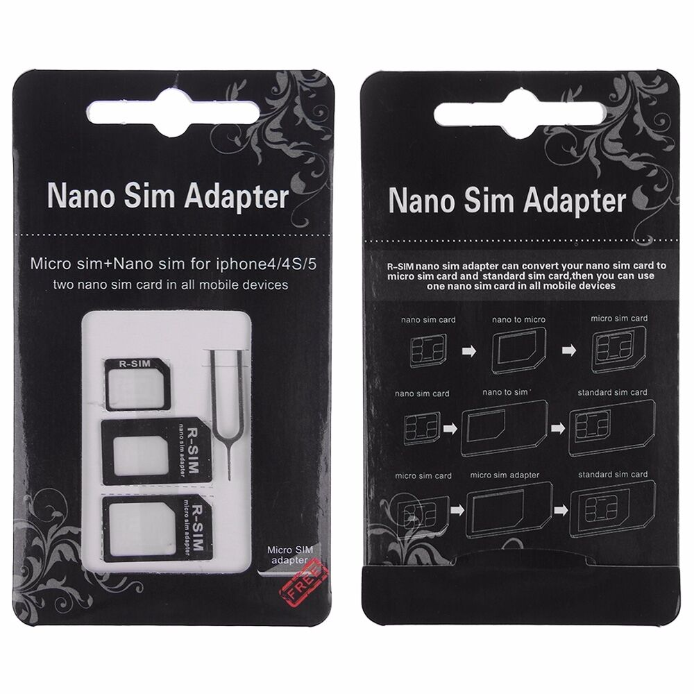 sim cards for iphone 5 nano sim to micro sim standard sim card adapter eject pin 2783