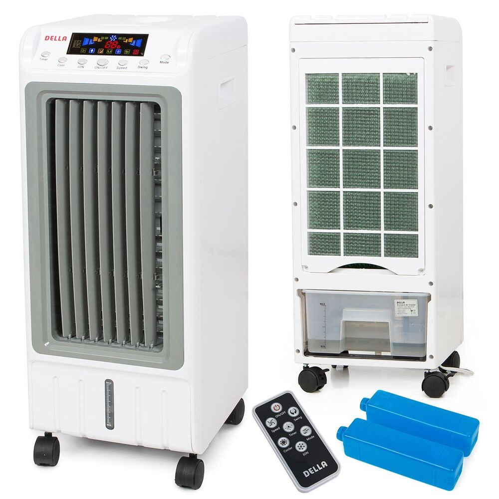 Portable LCD Display Air Cooler Humidifier Ionizer Evaporative Tower Fan +Remote | eBay