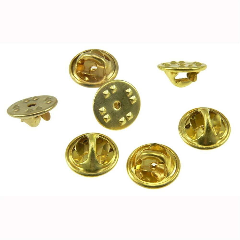 Lot 10 Gold Pin Backs Butterfly Clutch Fastener Clasps ...
