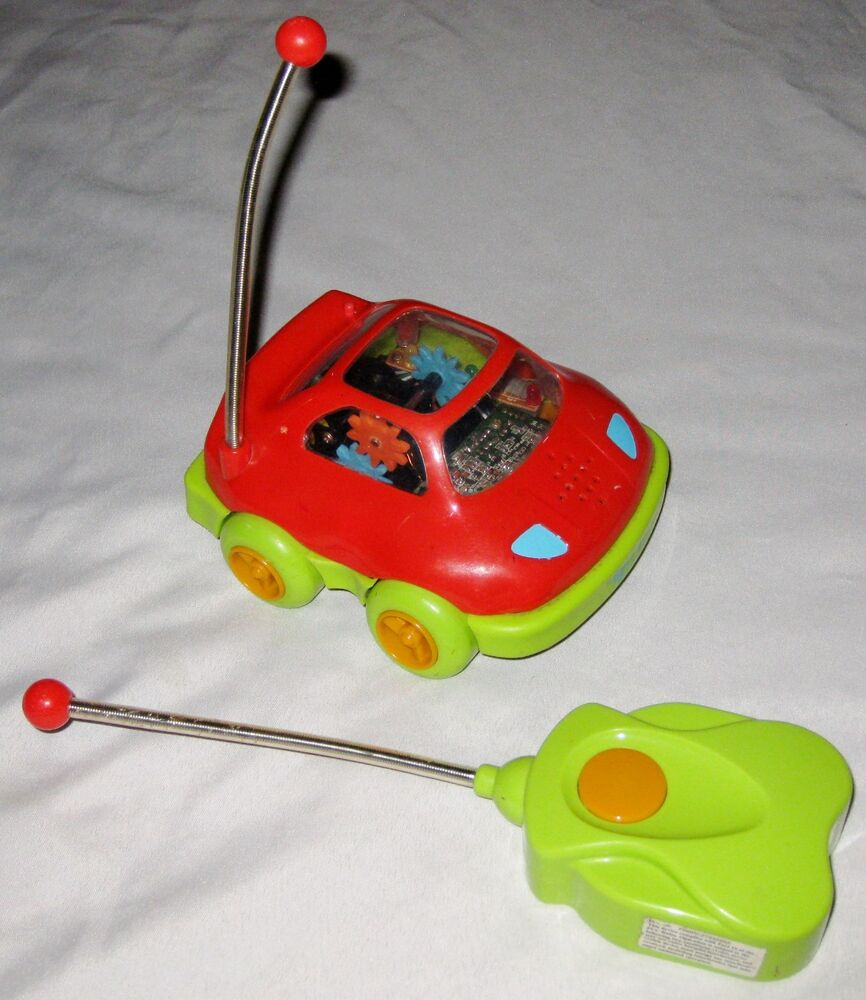 """Red Green 6"""" Blinking Moving Radio Remote Control Toy Car ..."""