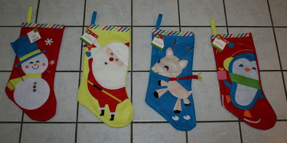 New target felt appliqued christmas stocking choice of