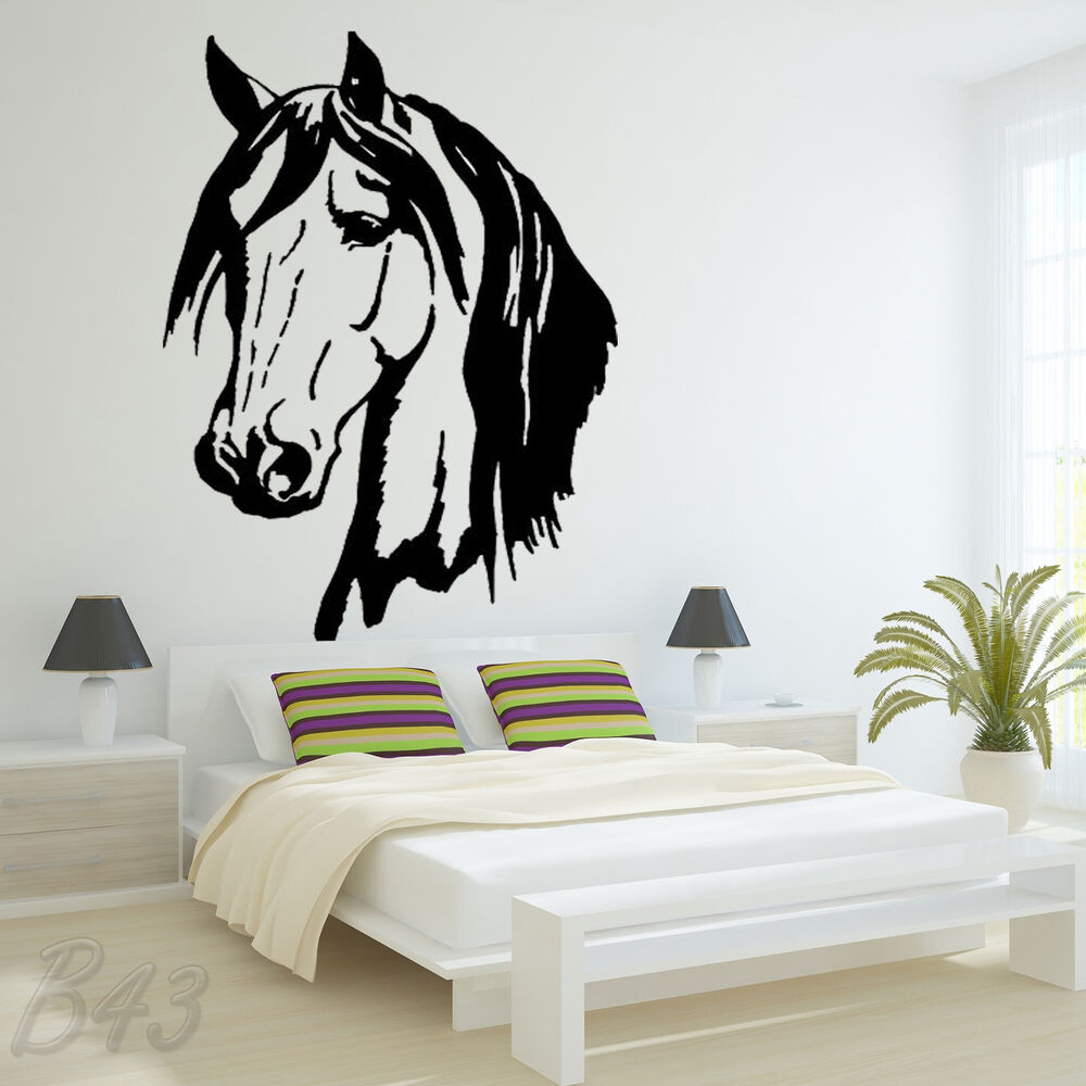 Horse Head Large Wall Art Decal Vinyl Sticker For Bedroom Or Living Room Ebay