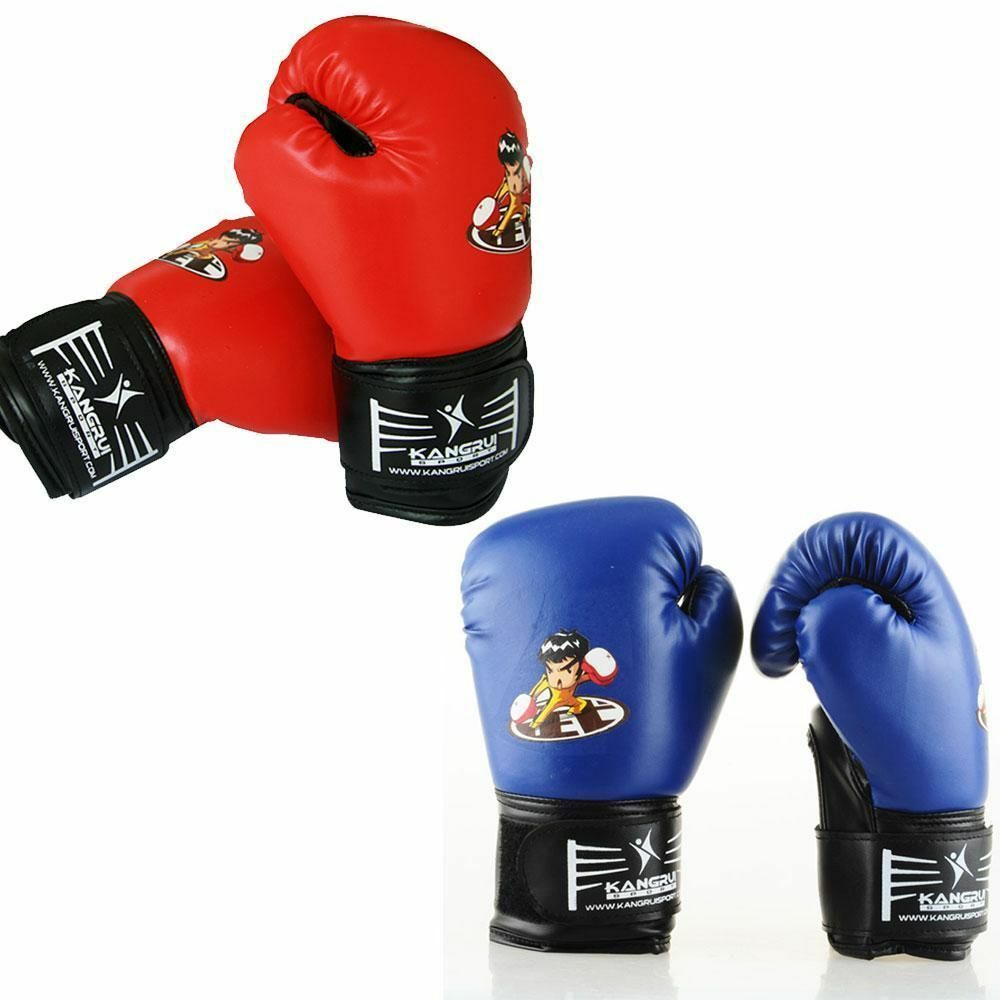 Boking Gloves: 5-10 Age Kids Boxing Gloves Junior Bag Mitts Punching MMA