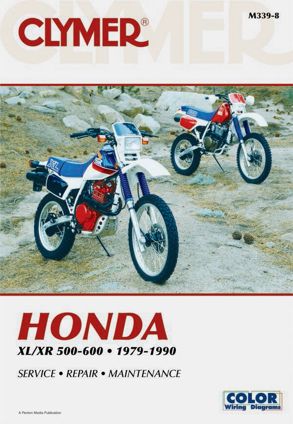 Clymer Repair Service Shop Manual Vintage Honda XL500S/R XL600R ...