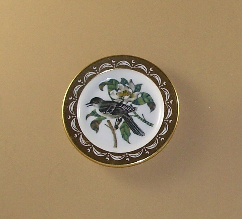 State Birds And Flowers Miniature Plate MISSISSIPPI