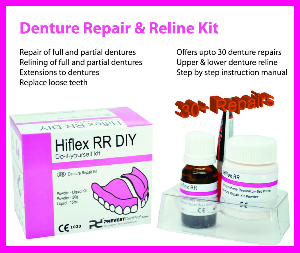 Diy permanent denture repair reline kit for upto 30 repairs diy permanent denture repair reline kit for upto 30 repairs dental ebay solutioingenieria Image collections