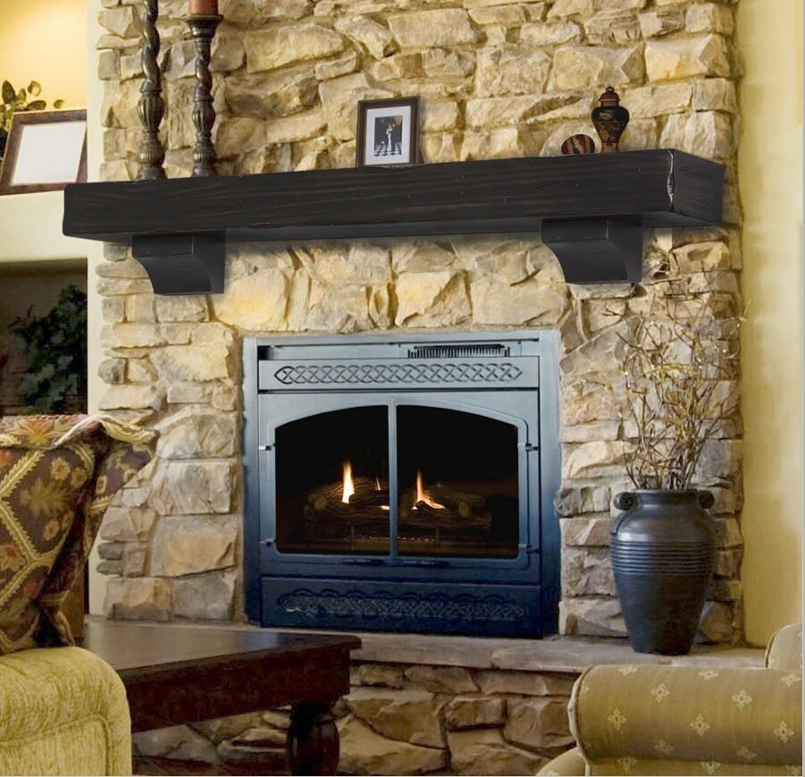 Pearl Mantel Shenandoah Rustic Fireplace Shelf Pick Size Finish EBay
