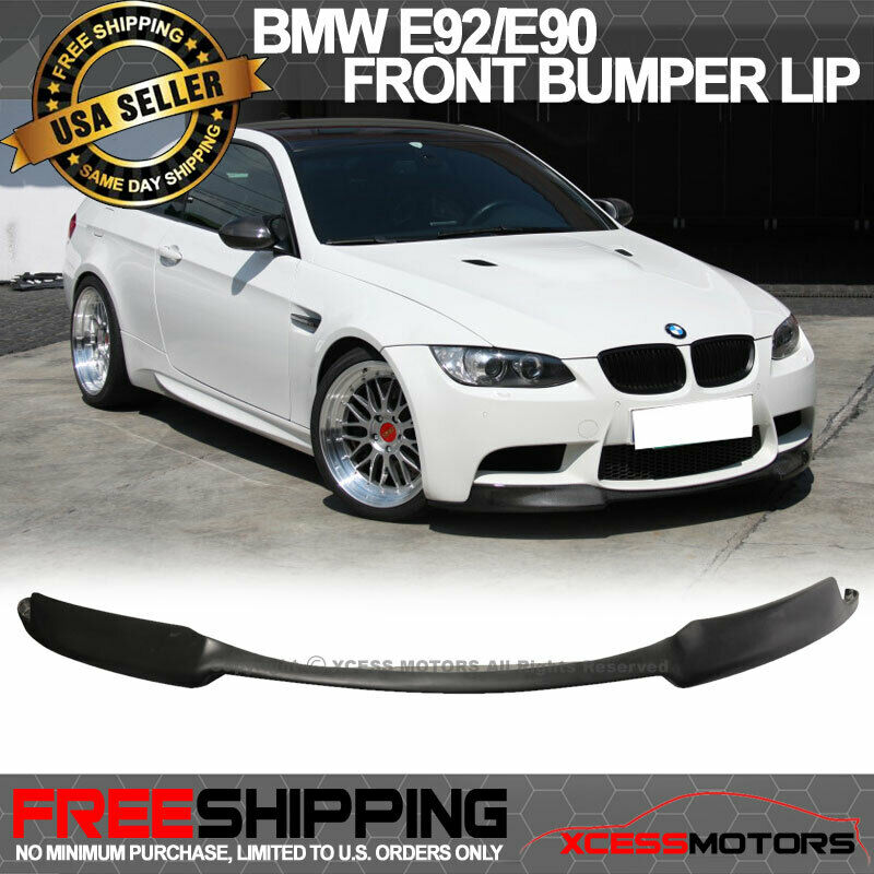fits 08 13 bmw e92 e90 m3 urethane front bumper lip. Black Bedroom Furniture Sets. Home Design Ideas
