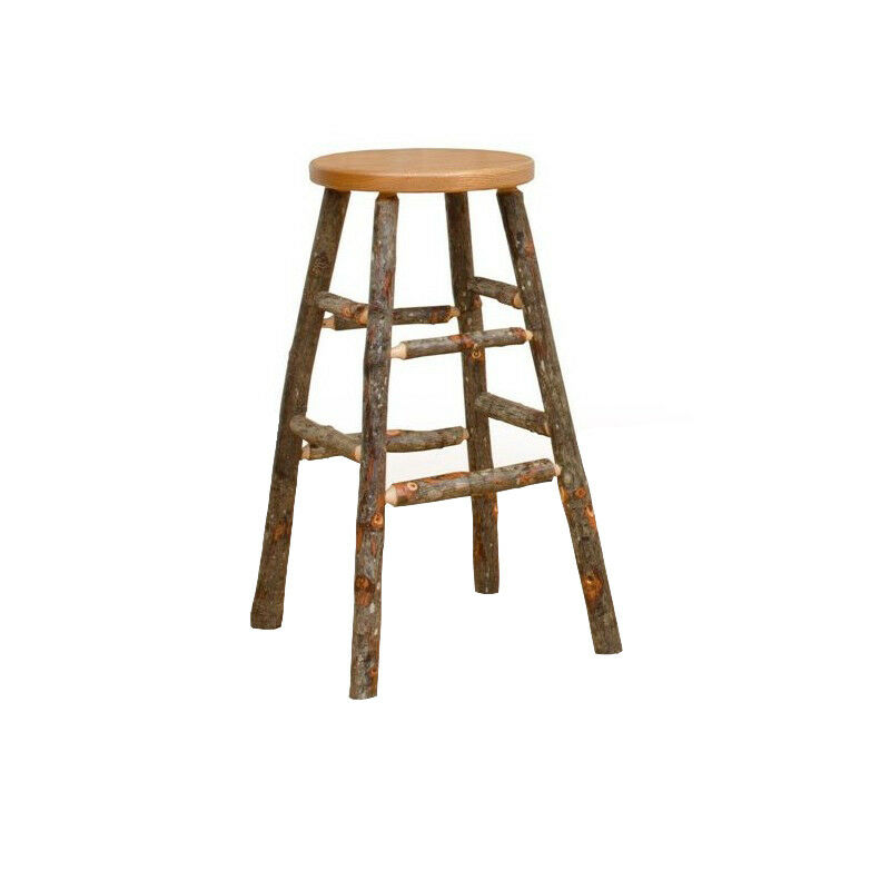 All Hickory Or Hickory Amp Oak Rustic 24 Quot Counter Stool