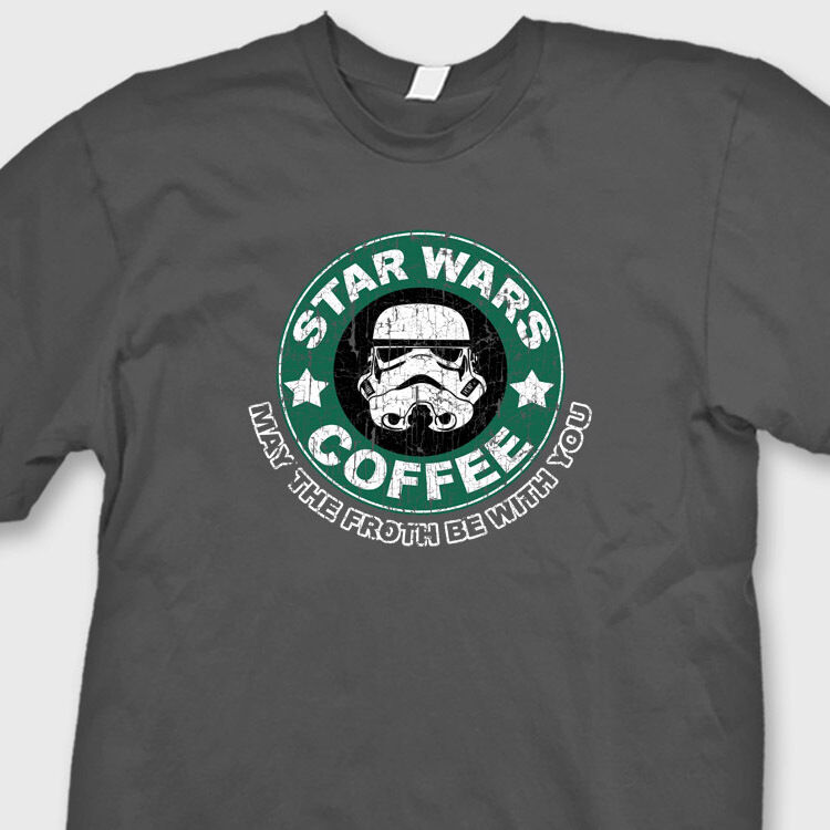 star wars coffee t shirt funny starbucks humor tee shirt