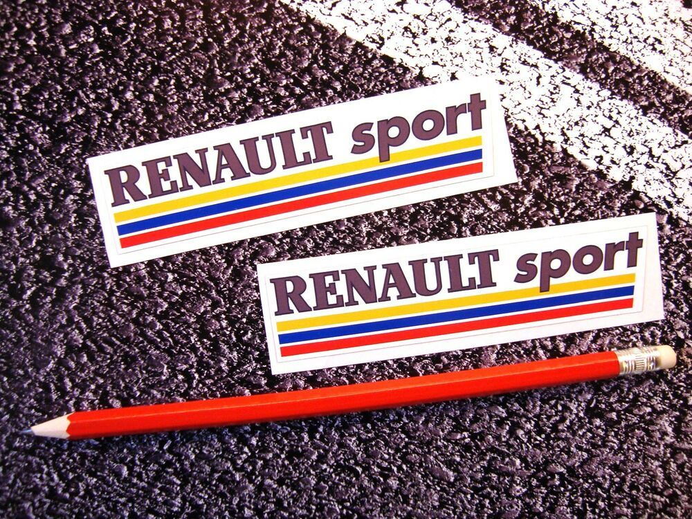 renault sport stickers f1 grand prix clio laguna megane rs 5 turbo world series ebay. Black Bedroom Furniture Sets. Home Design Ideas