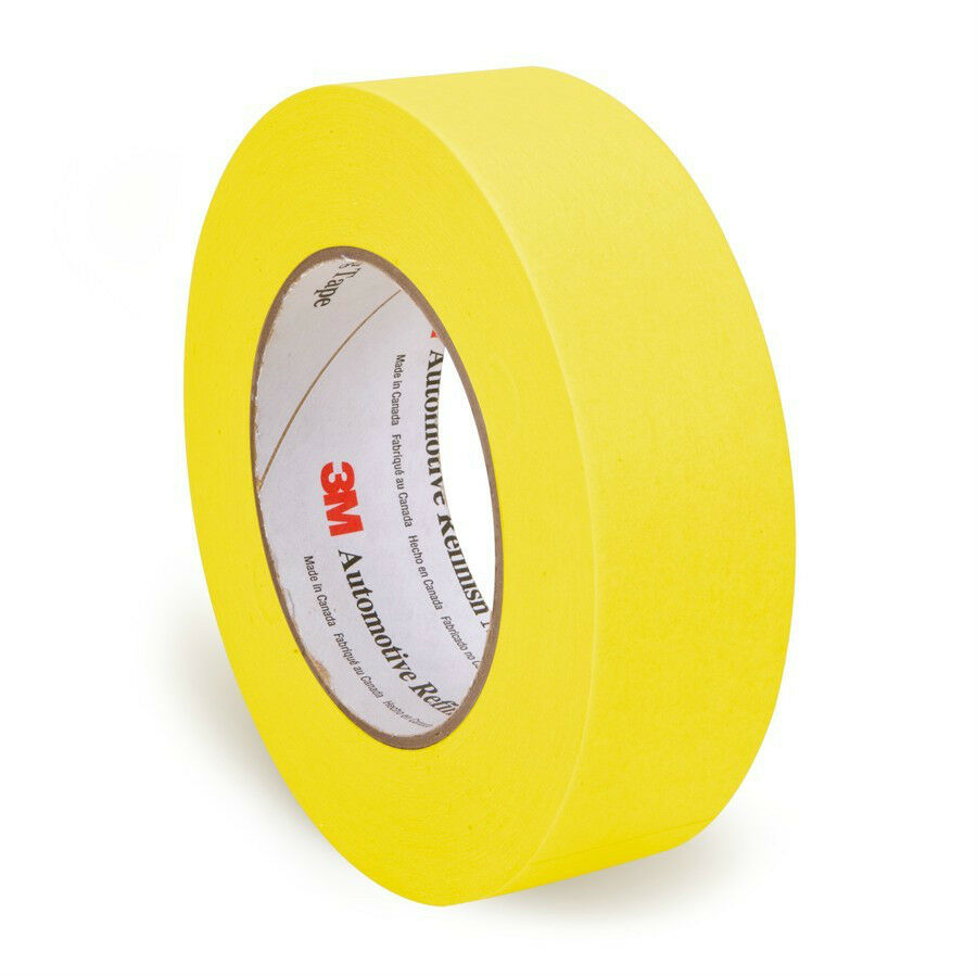 3m 6654 1 1 2 36 mm x 55mm yellow automotive refinish masking tape 06654 ebay. Black Bedroom Furniture Sets. Home Design Ideas