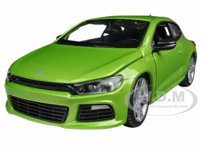 volkswagen scirocco r green 1 24 diecast model car by. Black Bedroom Furniture Sets. Home Design Ideas