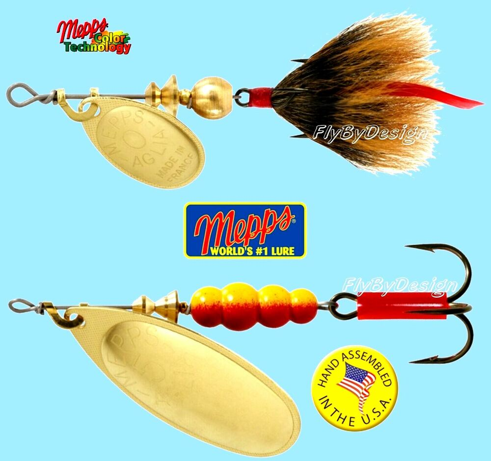 Mepps aglia gold blade spinner fishing lure choice of for Mepps fishing lures