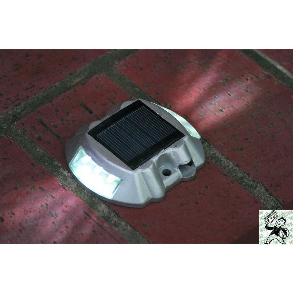 solar powered pathway marker white led boat dock patio safety light. Black Bedroom Furniture Sets. Home Design Ideas