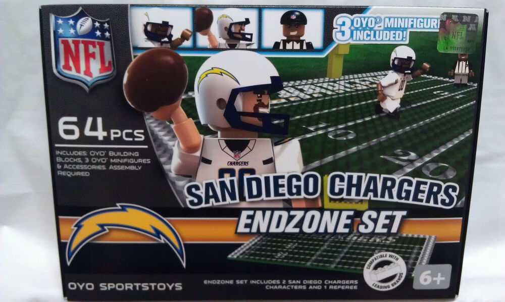 San Diego Chargers Oyo Endzone Field Team Sets Nfl New G1